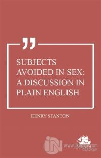 Subjects Avoided in Sex: A Discussion in Plain English