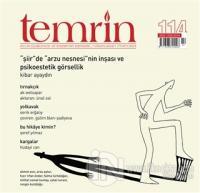 Temrin Aylık Düşünce ve Edebiyat Dergisi Sayı: 114 Nisan 2021