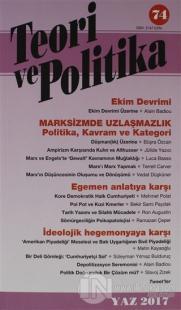 Teori ve Polikita Dergisi Sayı: 74 Yaz 2014