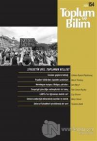 Toplum ve Bilim Dergisi Sayı: 154
