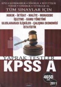 Tüm Sınavlar İçin KPSS A Hukuk Yaprak Testler