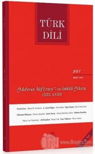 Türk Dili Dergisi Sayı: 831 Mart 2021