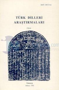 Türk Dilleri Araştırmaları Yıllığı 1996 Cilt: 6