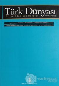 Türk Dünyası Dil ve Edebiyat Dergisi Sayı: 35 Bahar 2013