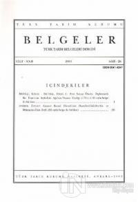 Türk Tarih Belgeleri Dergisi Cilt: 22 Sayı: 26