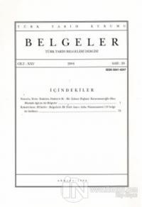 Türk Tarih Belgeleri Dergisi Cilt: 25 Sayı: 29