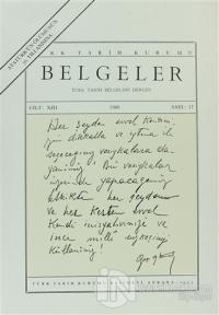 Türk Tarih Belgeleri Dergisi Sayı: 17 Cilt 13