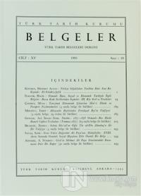 Türk Tarih Belgeleri Dergisi Sayı: 19 Cilt: 15