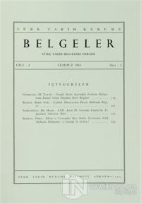 Türk Tarih Belgeleri Dergisi Sayı: 2 Cilt: 1 (Ciltli)