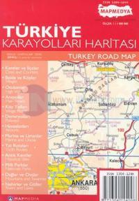 Türkiye Karayolları HaritasıTurkey Road Map