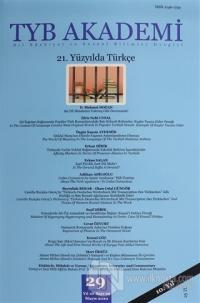 TYB Akademi Dergisi Sayı: 29 Mayıs 2020
