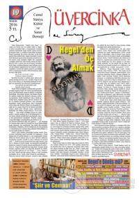 Üvercinka Dergisi Sayı: 19 Mayıs 2016