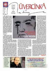 Üvercinka Dergisi Sayı: 46 Ağustos 2018
