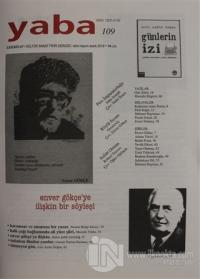 Yaba Edebiyat Dergisi Sayı: 109 Ekim - Kasım - Aralık 2018