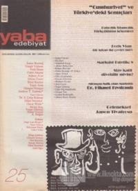 Yaba Edebiyat Dergisi Sayı: 25
