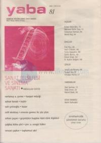 Yaba Edebiyat Dergisi Sayı: 81