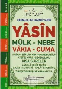 Yasin Türkçe Okunuşu ve Mealleri Fihristli Cep Boy (Kod: F058)
