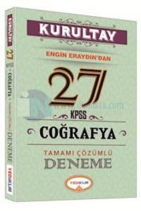 Yediiklim KPSS Kurultay Coğrafya Tamamı Çözümlü 27 Deneme 2016