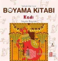Yetişkinler İçin Boyama Kitabı - Kedi