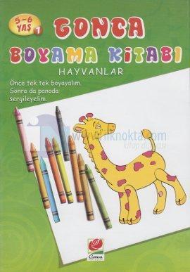 5 6 Yas Gonca Boyama Kitabi Hayvanlar 1 10 Indirimli Kolektif