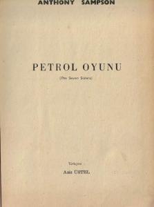 Petrol Oyunu (Ciltli)