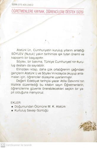 Nutuk Söylev Mustafa Kemal Atatürk