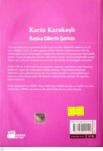 Başka Dillerin Şarkısı Karin Karakaşlı