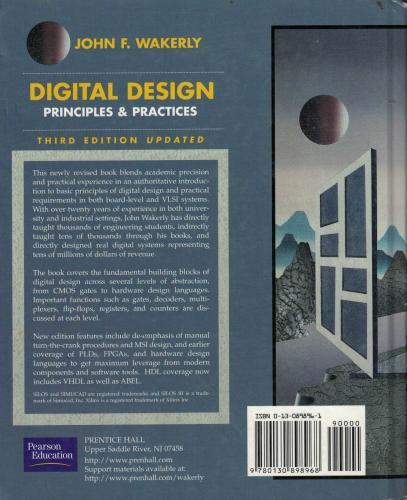 Digital Design Principles & Practices %60 indirimli John F. Wakerly