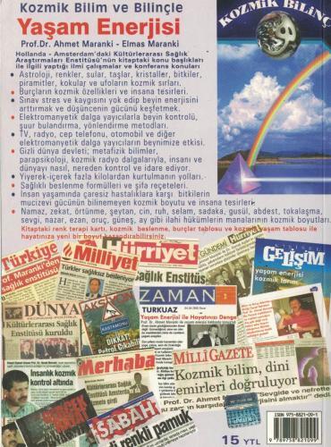 Kozmik Bilim ve Bilinçte Yaşam Enerjisi %53 indirimli Ahmet Maranki