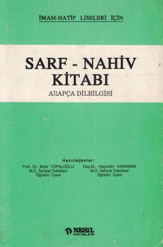 Sarf - Nahiv Kitabı Arapça Dilbilgisi