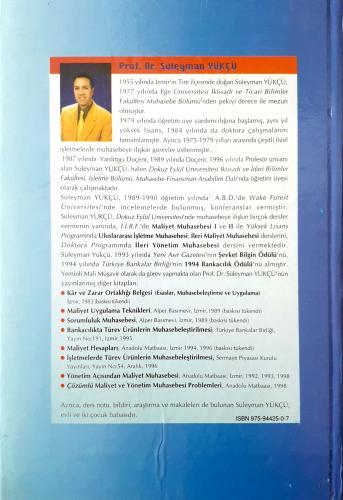 Kalite Maliyetlerinin Muhasebeleştirilmesi Prof.Dr.Süleyman Yükçü