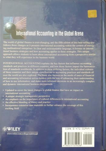İnternational Accounting & Multinational Enterprises Lee H.Radebaugh /