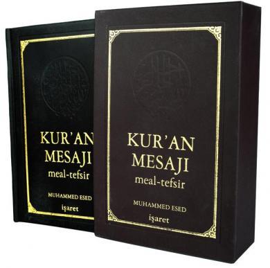 Kur'an Mesajı - Meal-Tefsir (Lüks Deri Cilt Numaralı Özel Baskı) %40 i