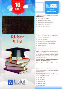 Bulut 10. Sınıf Türk Dili ve Edebiyatı Çek Kopar 40 Test