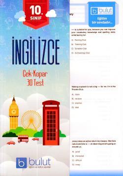 Bulut 10. Sınıf İngilizce Çek Kopar 40 Test