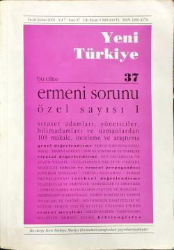 yeni türkiye sayı 37 ermeni sorunu özel sayı 1