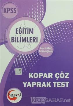 2018 KPSS Eğitim Bilimleri Çek Kopar Yaprak Test