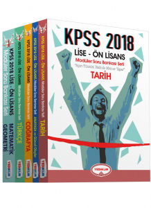 2018 KPSS LİSE-ÖNLİSANS MOD SORU BANKASI 5 KİTAP