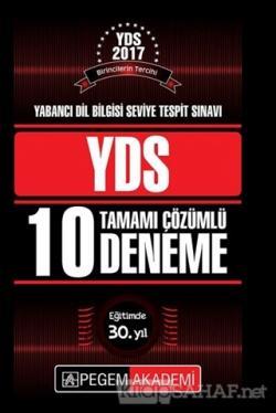 2018 YDS Tamamı Çözümlü 10 Deneme