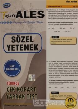 2021 ALES Türkçe Sözel Yetenek Yaprak Test