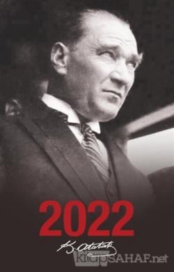 2022 Atatürk Ajandası Portre - Siyah