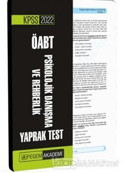 2022 KPSS ÖABT Psikolojik Danışma ve Rehberlik Yaprak Test