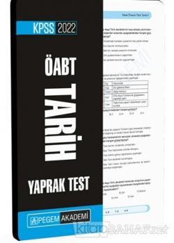 2022 KPSS ÖABT Tarih Yaprak Test