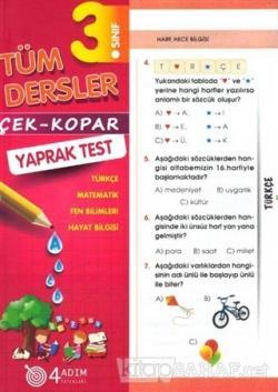 3. Sınıf Tüm Dersler Çek-Kopar Yaprak Test