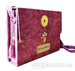 30 Cüz Kuran-ı Kerim Rahle Boy Çantalı (Lila Renk) (Ciltli)