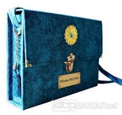 30 Cüz Kuran-ı Kerim Rahle Boy Çantalı (Mavi Renk) (Ciltli)