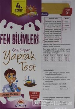 4. Sınıf Fen Bilimleri Çek Kopar Yaprak Test