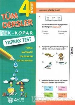 4. Sınıf Tüm Dersler Çek-Kopar Yaprak Test