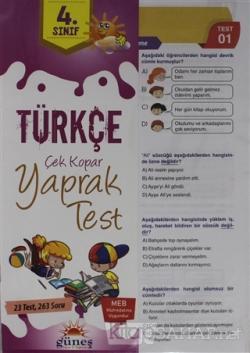 4. Sınıf Türkçe Çek Kopar Yaprak Test