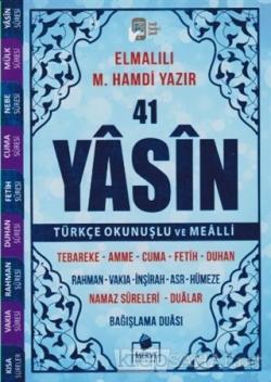 41 Yasin Çanta Boy Türkçe Okunuşlu ve Mealli (Kod 39)